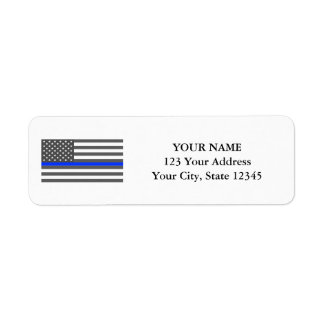 Thin Blue Line American flag law enforcement Label