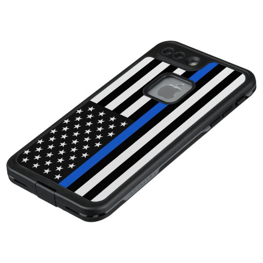 the latest 7ee23 9de78 Thin Blue Line American Flag LifeProof iPhone Case