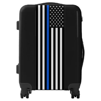 Thin Blue Line American Flag Luggage