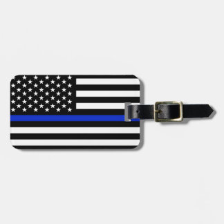 Thin Blue Line American Flag Luggage Tag
