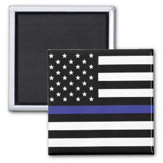 Thin Blue Line - American Flag Magnet