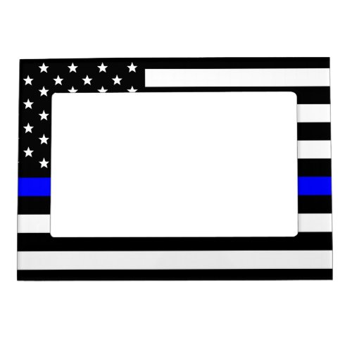 Thin Blue Line _ American Flag Magnetic Picture Frame