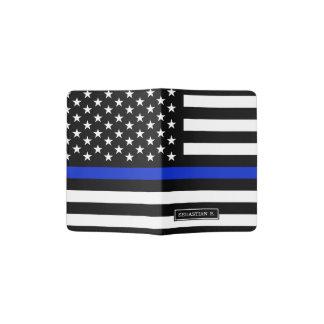 Thin Blue Line American Flag Passport Holder