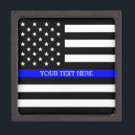 "Thin Blue Line - American Flag Personalized Custom Keepsake Box<br><div class=""desc"">Thin Blue Line - American Flag Personalized Custom Premium Gift Box just for you.</div>"
