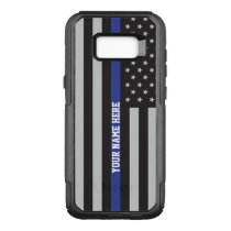 Thin Blue Line - American Flag Personalized Custom OtterBox Commuter Samsung Galaxy S8  Case