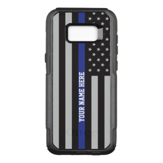 Thin Blue Line - American Flag Personalized Custom OtterBox Commuter Samsung Galaxy S8+ Case