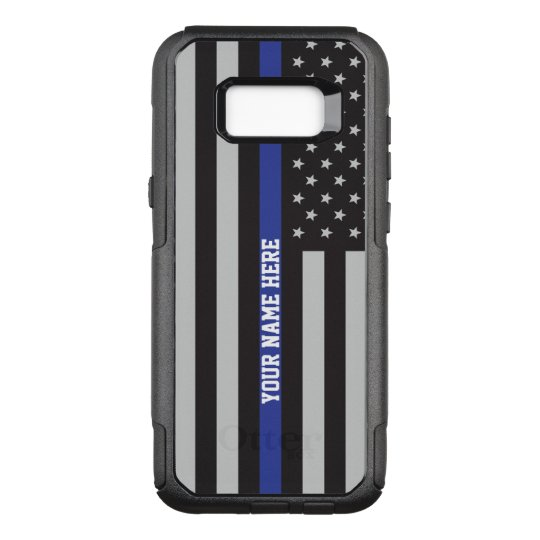 cheap for discount 0d147 5ca19 Thin Blue Line - American Flag Personalized Custom OtterBox Commuter  Samsung Galaxy S8+ Case
