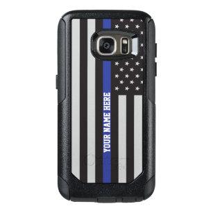 Thin Blue Line - American Flag Personalized Custom OtterBox Samsung Galaxy S7 Case