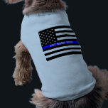 """Thin Blue Line - American Flag Personalized Custom T-Shirt<br><div class=""""desc"""">Thin Blue Line - American Flag Personalized Custom Doggie Ribbed Tank Top Just for you.</div>"""