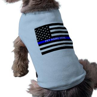 Thin Blue Line - American Flag Personalized Custom T-Shirt