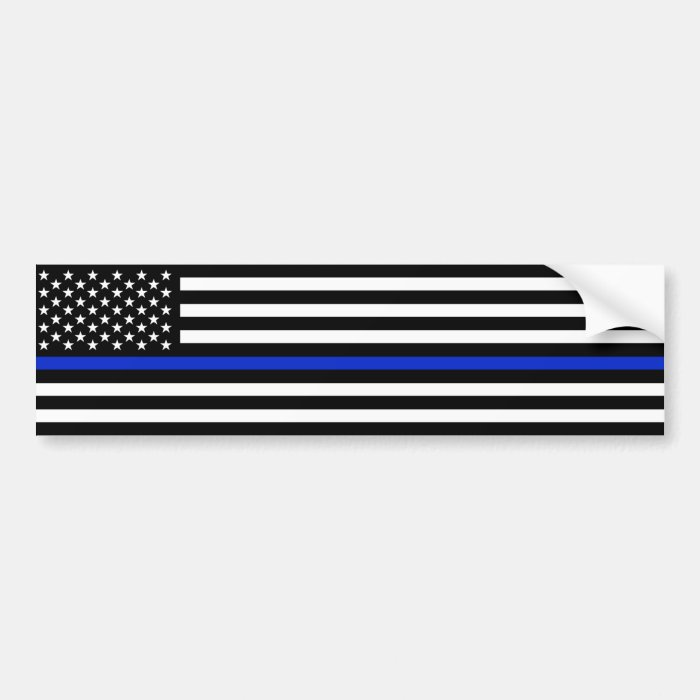 Thin Blue Line Police Sticker 43