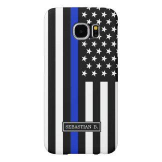 Thin Blue Line American Flag Samsung Galaxy S6 Case