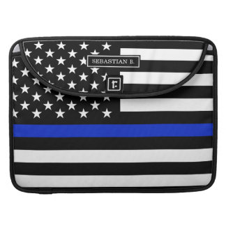 Thin Blue Line American Flag Sleeve For MacBooks