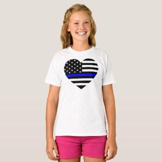 Thin Blue Line - American Flag T-Shirt