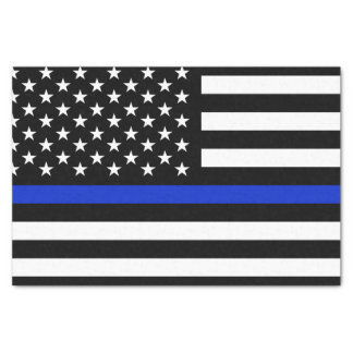 Thin Blue Line American Flag Tissue Paper