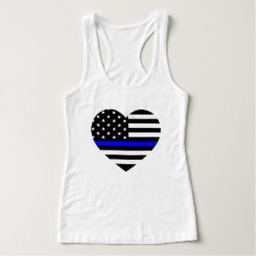Thin Blue Line American Flag - Women's T-shirt at Zazzle