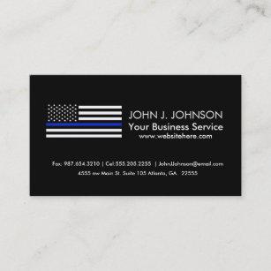 Law enforcement business cards zazzle thin blue line american flag business card colourmoves