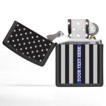 Thin Blue Line American Flag Zippo Lighter