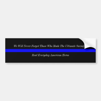 Thin Blue Line American Heros Bumper Sticker