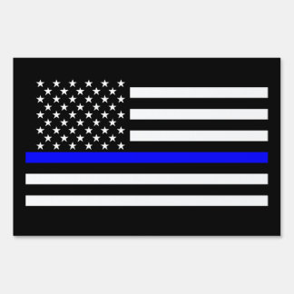 Thin Blue Line American Style Sign