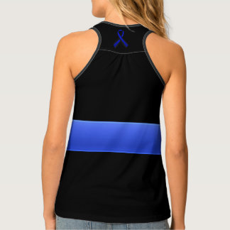 Thin Blue Line and Ribbon Tank Top