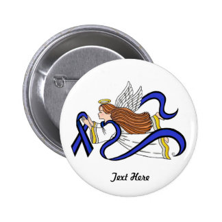 Thin Blue Line Angel Button