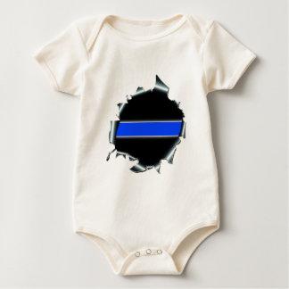 Thin Blue Line Baby Bodysuit