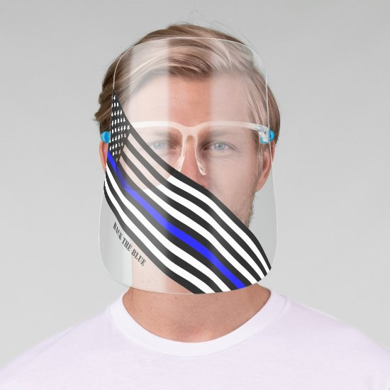 [Thin Blue Line] Back the Blue Face Shield 1 SVG