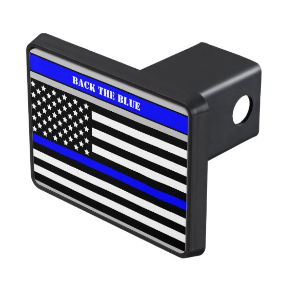 [Thin Blue Line] Back the Blue Law Enforcement SVG Hitch Cover