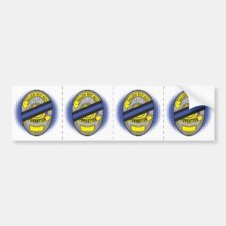 Thin Blue Line Badge Bumper Sticker