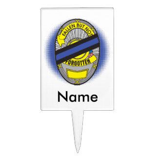 Thin Blue Line Badge Cake Topper
