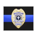 Thin Blue Line & Badge Canvas Print