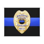 Thin Blue Line & Badge Canvas Prints