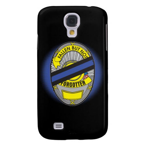 Thin Blue Line Badge Samsung Galaxy S4 Cases