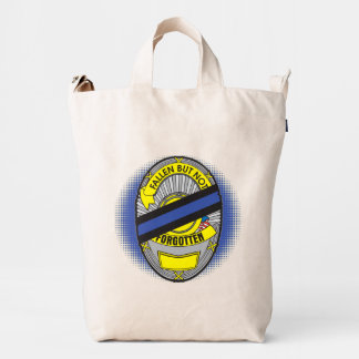 Thin Blue Line Badge Duck Bag