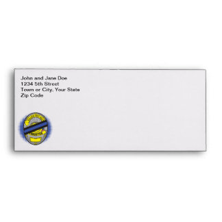 Thin Blue Line Badge Envelope