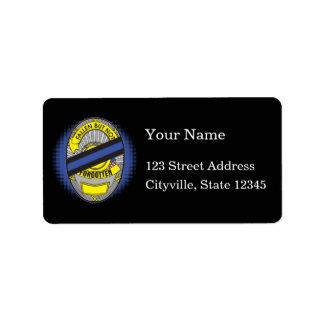 Thin Blue Line Badge Label