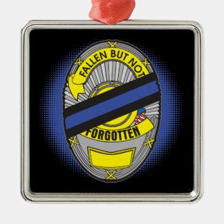 Thin Blue Line Badge Metal Ornament