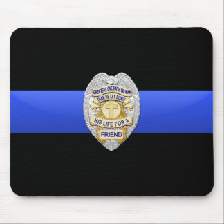 Thin Blue Line - Badge Mouse Pad