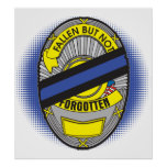 Thin Blue Line Badge Posters