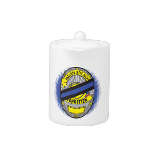 Thin Blue Line Badge Teapot