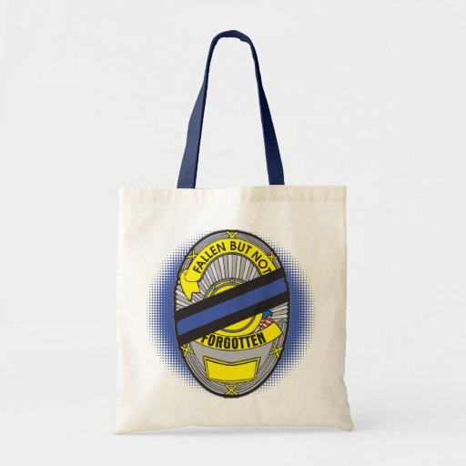 Thin Blue Line Badge Tote Bag