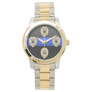 Thin Blue Line Badge Wrist Watch