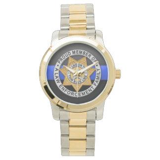 Thin Blue Line Badge Wrist Watch
