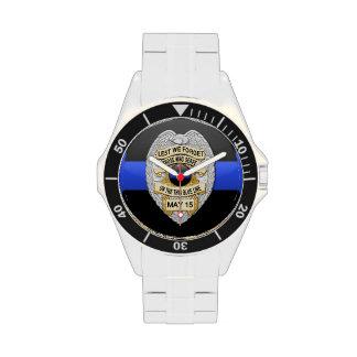 Thin Blue Line Badge Wrist Watches