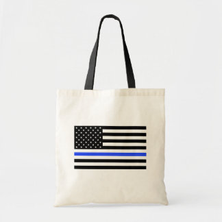 Thin Blue Line bag, Flag Tote Bag