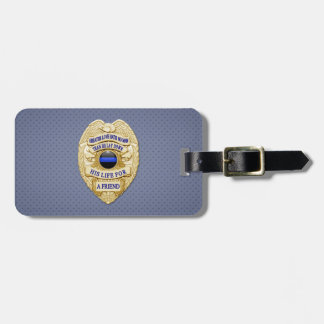 Thin Blue Line Bag Tag