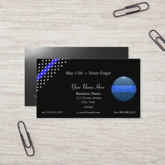 thin blue line beautiful st michael police business card - Police Business Cards
