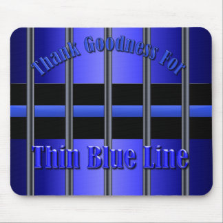 Thin Blue Line - Behind Bars Mouse Pad