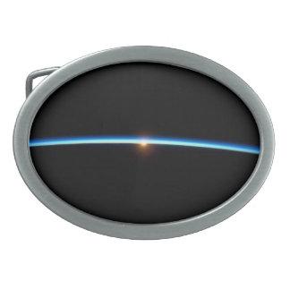 Thin Blue Line Oval Belt Buckles
